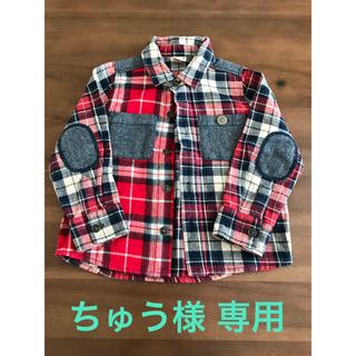 プティマイン(petit main)の【美品】petit main プティマイン チェックシャツ キッズ 100(Tシャツ/カットソー)