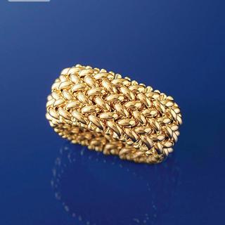 イタリア製ゴージャス❤️ゴールド金メッシュリング❤️(リング(指輪))