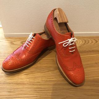 チャーチ(Church's)の美品 Clarks ウイングチップシューズ UK6 24.5〜25.5cm(ローファー/革靴)