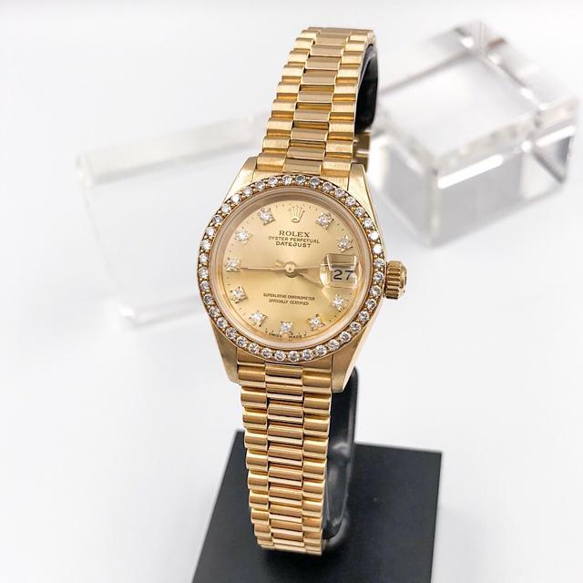 ROLEX - 【仕上済】ロレックス 10P 純正ダイヤ 金無垢 レディース 腕時計の通販 by LMC|ロレックスならラクマ