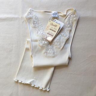 ドゥロワー(Drawer)の新品未使用 オスカリート 刺繍レースタンクトップ(タンクトップ)