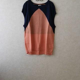 ノンブルアンベール(nombre impair)のノンブルアンペールバイカラーニット(Tシャツ(半袖/袖なし))