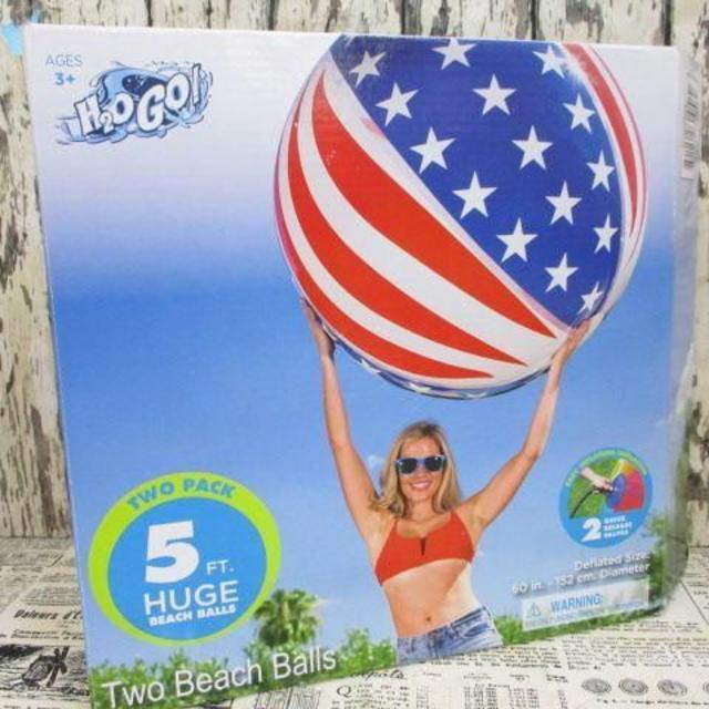 コストコ(コストコ)のH2OGO! 特大 ビーチボール 直径152cm 2個セット スポーツ/アウトドアのスポーツ/アウトドア その他(マリン/スイミング)の商品写真