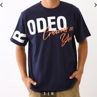 RODEO CROWNS WIDE BOWL - ロデオクラウンズ   Tシャツ メンズ用M ネイビー