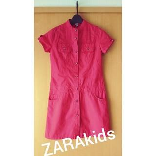 ザラキッズ(ZARA KIDS)のZARA kids★コットンシャツワンピ140150(ワンピース)