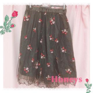 ハニーズ(HONEYS)の🎀ハニーズ🎀 フラワーチュールスカート(ひざ丈スカート)