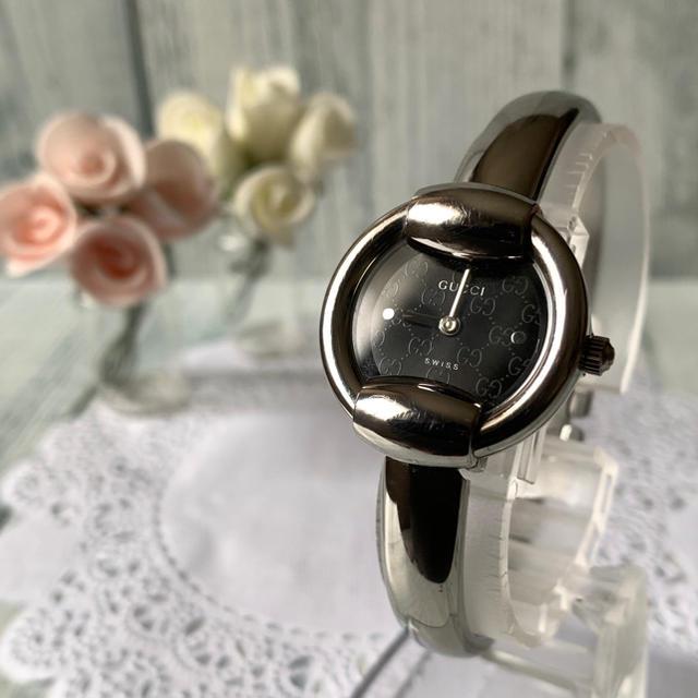 Gucci - 【電池交換済み】GUCCI グッチ 1400L 腕時計 GG柄 シルバーブラックの通販 by soga's shop|グッチならラクマ