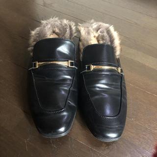 ジーユー(GU)のジーユー ファー付きローファー(ローファー/革靴)
