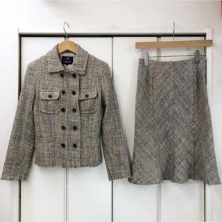 ニジュウサンク(23区)の23区 ツイード ジャケット/スカート スーツ セットアップ(32/34)(スーツ)