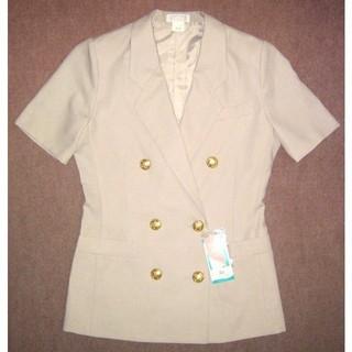 新品 15号 半袖オフィスジャケット 事務服 OL制服 大きいサイズ(テーラードジャケット)