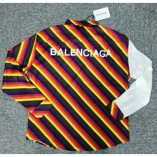 バレンシアガ(Balenciaga)の正規品バレンシアガ シャツ 長袖 メンズ M 刺繍ロゴ (シャツ)