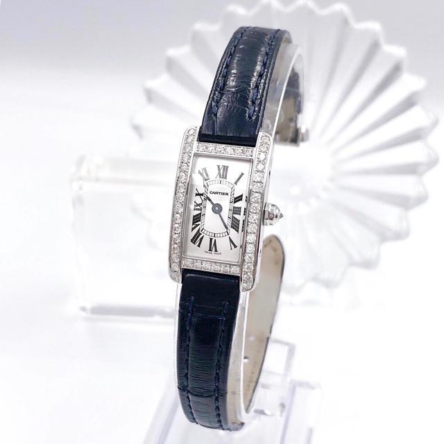 Cartier - 【保証書付/仕上済】カルティエ タンクアメリカン ダイヤ レディース 腕時計の通販 by LMC|カルティエならラクマ