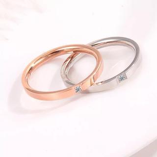 角ステンレスリング ステンレス指輪 ピンキーリング(リング(指輪))