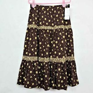 ベルメゾン(ベルメゾン)のベルメゾン花柄3段ティアードスカート 新品(ロングスカート)