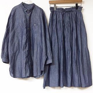 ネストローブ(nest Robe)のネストローブ  コットンリネン和紙 シャツ & スカート(ロングスカート)
