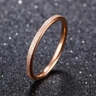 2mmラフリング ピンクゴールド サンドブラスト仕上げ(リング(指輪))