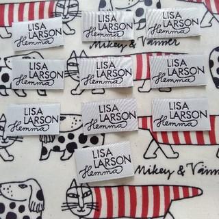 リサラーソン(Lisa Larson)のリサラーソン ネームタグ 10枚セット 未使用新品 ハンドメイド作品などに(その他)