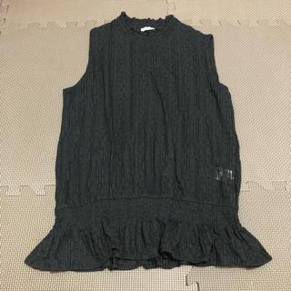ジーユー(GU)の試着のみ GU ジーユー レースタンクトップ ブラック ブラウス(シャツ/ブラウス(半袖/袖なし))