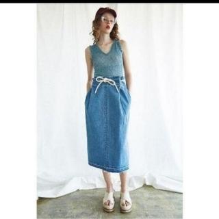 マウジー(moussy)のMOUSSY  DRAWSTRING スカート(ひざ丈スカート)
