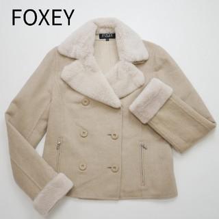 FOXEY - 良品 FOXEY  フォクシー カシミア配合 ファー付き ジャケット