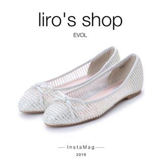 イーボル(EVOL)のEVOL♡ ILIMA リボンフラットパンプス  (ハイヒール/パンプス)