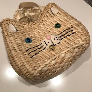 ルートート(ROOTOTE)のルートート 猫 かごバッグ 巾着袋 オッドアイ 鈴 にゃんこ キャット かばん(かごバッグ/ストローバッグ)
