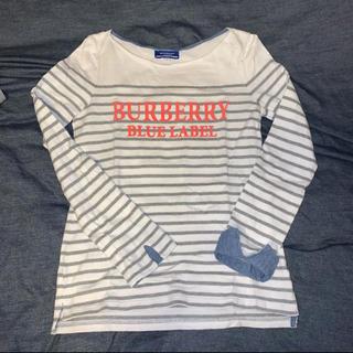 バーバリーブルーレーベル(BURBERRY BLUE LABEL)のバーバリー ブルーレーベル ボーダーデニム カットソー(Tシャツ(長袖/七分))