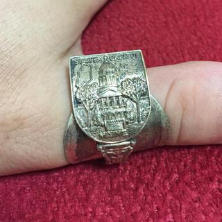 アンティーク リング スプーンリング メイン州 24号 調整可 アメリカ 46(リング(指輪))