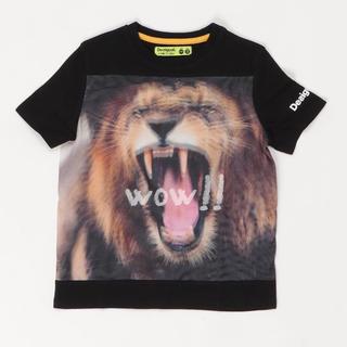 デシグアル(DESIGUAL)の新品 今季新作 デシグアル ライオン Tシャツ キッズ 子供(Tシャツ/カットソー)