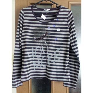 ジーユー(GU)の新品GU ボーダー長袖Tシャツ(ロンT) Mサイズ(Tシャツ(長袖/七分))