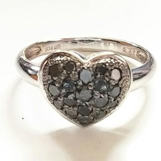 【Lani様専用です】リング  14金  K14WG  ブラックダイヤモンド(リング(指輪))