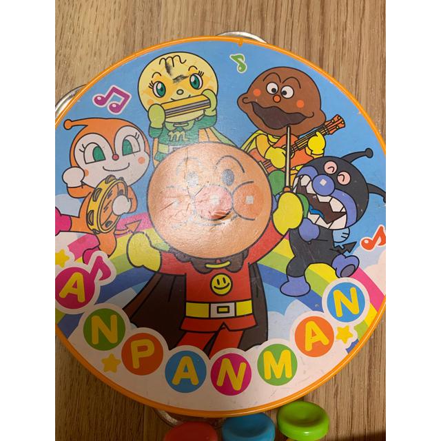 アンパンマン(アンパンマン)のアンパンマン 働くクルマ2台&タンバリン、ラッパセット キッズ/ベビー/マタニティのおもちゃ(楽器のおもちゃ)の商品写真