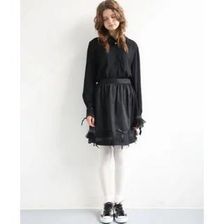 ケイスケカンダ(keisuke kanda)のランジェリー飾りのスカート(ひざ丈スカート)