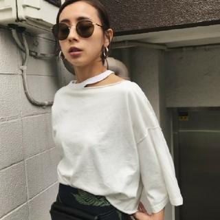 アメリヴィンテージ(Ameri VINTAGE)のAmeri メディ スリット オーバーTシャツ(Tシャツ(半袖/袖なし))