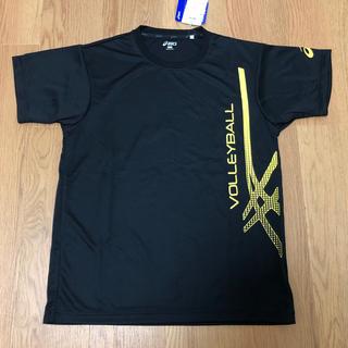 アシックス(asics)のアシックス/バレーボールシャツ/ユニセックスL/ブラック/未使用(バレーボール)