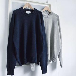 サンシー(SUNSEA)のyoke 5G Oversized Crew Neck Knit 【S】(ニット/セーター)