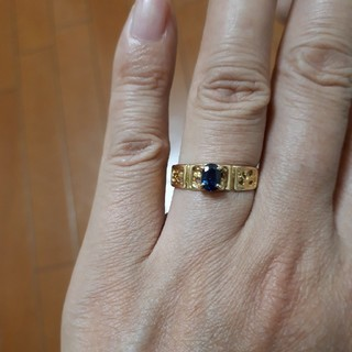 専用です。K18 サファイアリング(リング(指輪))