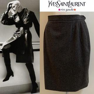 サンローラン(Saint Laurent)のYVES SAINT LAURENT 90s FRANCE製 カシミア混スカート(ひざ丈スカート)