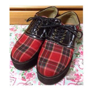 ウィゴー(WEGO)のWEGO チェック柄  ラバーソール(ローファー/革靴)