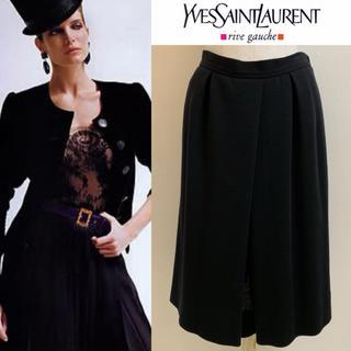 サンローラン(Saint Laurent)のYVES SAINT LAURENT 1990s FRANCE製 ウールスカート(ひざ丈スカート)