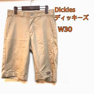 ディッキーズ(Dickies)のディッキーズ ハーフパンツ 膝丈 ベージュ 古着 W30 M(ショートパンツ)