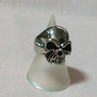 海外古着★シルバー925Skullリング(リング(指輪))
