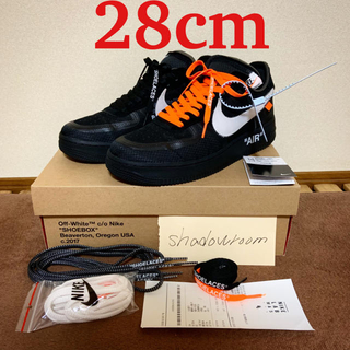 ナイキ(NIKE)のNike off-white Air force1 low 28 US10 (スニーカー)