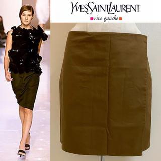 サンローラン(Saint Laurent)のYVES SAINT LAURENT 2000SS エルバス期 新品巻きスカート(ひざ丈スカート)