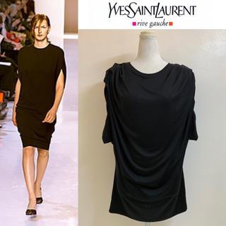 サンローラン(Saint Laurent)のYVES SAINT LAURENT 2000SS エルバス期 シルクカットソー(Tシャツ(半袖/袖なし))