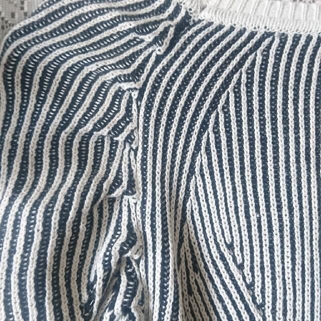 haco!(ハコ)のpilvee フェリシモ haco 立体シルエットニット 袖コンシャス モノクロ レディースのトップス(カットソー(長袖/七分))の商品写真