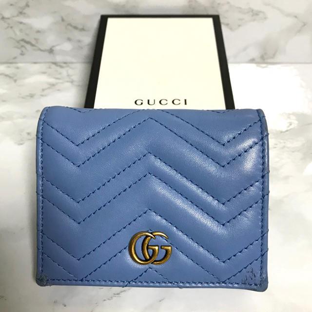 Gucci - 【超特価】 GUCCI マーモント デニム 二つ折り財布の通販 by RN star's shop|グッチならラクマ