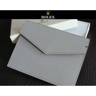 ロレックス(ROLEX)のROLEX ロレックス レザー カード入れ カードケース 名刺入れ 定期入れ(名刺入れ/定期入れ)