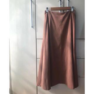 プラージュ(Plage)のplage ピンク エコスエード スカート(ひざ丈スカート)