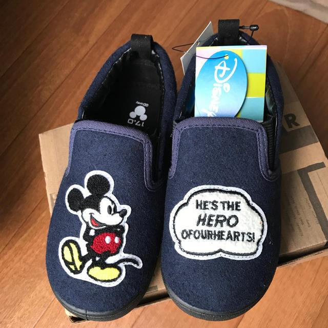 ampersand(アンパサンド)のampersand 17cmミッキースニーカー キッズ/ベビー/マタニティのキッズ靴/シューズ (15cm~)(スニーカー)の商品写真
